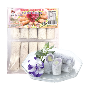ML - Vietnam Spring Roll - Pandan Purple Cassava Net Spring Roll